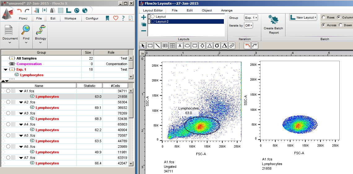 proliferative index flow jo software